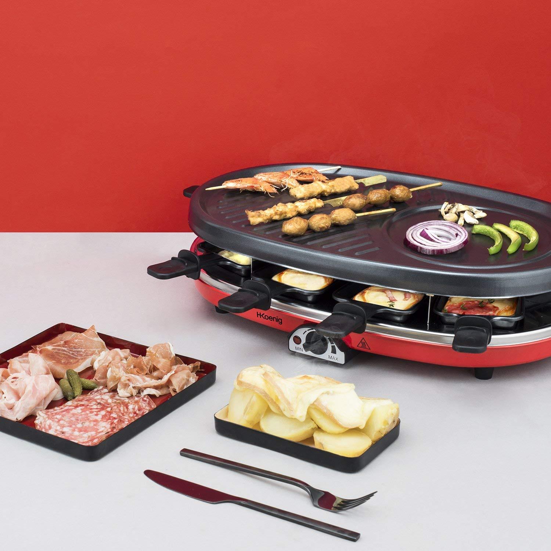 H.Koenig Appareil à Raclette 4en1 Multifonctions